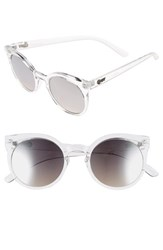 Junior Women's Quay Australia 'Vintage' 50Mm Translucent Keyhole Sunglasses