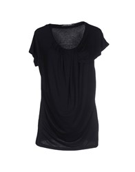 European Culture Topwear T Shirts Women Black