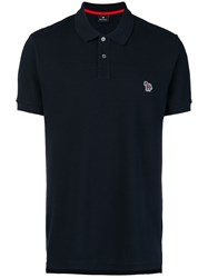 Paul Smith Ps By Zebra Logo Polo Shirt Blue