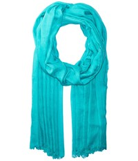 Echo Solid Crinkle Wrap Scarf Caribbean Sea Scarves Blue