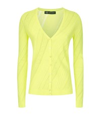 Versace Greco Knit Cardigan Female Yellow