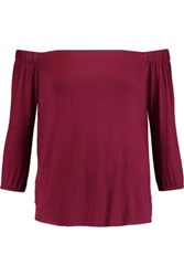 Bailey 44 Off The Shoulder Stretch Jersey Top Burgundy