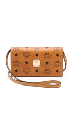 Mcm Cross Body Wallet Cognac And Purple