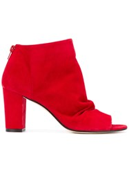 Marc Ellis Open Toe Ankle Boots Red