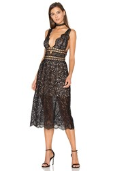 For Love And Lemons Mon Cheri Midi Dress Black