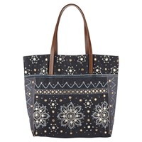 East Serina Mirror Work Tote Bag Grey