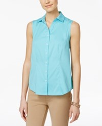 Charter Club Sleeveless Shirt Only At Macy's Clear Coast
