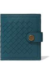 Bottega Veneta Intrecciato Leather Wallet Teal