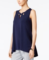 Alfani Grommet Detail Keyhole Top Only At Macy's Navy Nautical