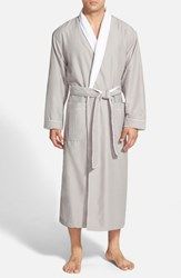 Majestic International Fleece Lined Robe Dove Grey