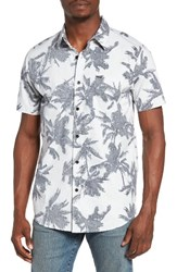 Rip Curl Men's Palm Time Reverse Print Woven Shirt Off White