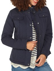 Fat Face Quilted Shillington Jacket Navy