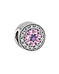 Pandora Design Pandora Charm Sterling Silver Cubic Zirconia And Glass Dazzling Floral Moments Collection