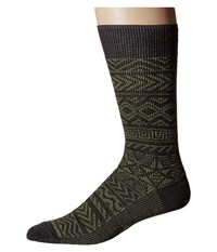 Smartwool Backcountry Cabin Crew Light Loden Heather Men's Crew Cut Socks Shoes Green