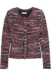 Iro Carene Boucle Tweed Jacket Red