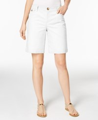Charter Club Twill Shorts Only At Macy's Bright White