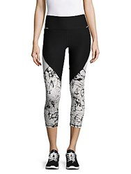 Gottex Printed Cropped Leggings Black White