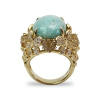 Bellus Domina Amare Amazonite Ring Blue