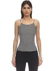 Maryam Nassir Zadeh Thea Open Back Gingham Top Black