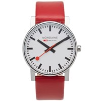 Mondaine Quartz Evo 38Mm Watch Red