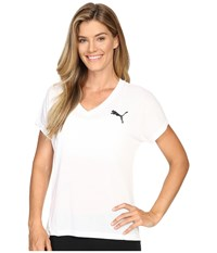Puma Elevated Sporty Tee White Women's T Shirt