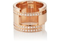 Dauphin White Diamond Ring Rose Gold
