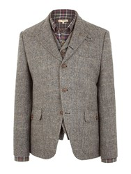 Gibson Grouse Herringbone Jacket Charcoal