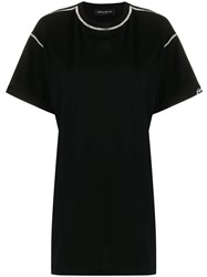 Frankie Morello Cut Out Crystal Embellished T Shirt 60