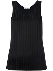 Paco Rabanne Ribbed Top Black