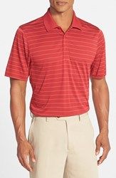 Men's Cutter And Buck 'Franklin' Drytec Polo Cardinal Red White