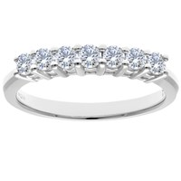 Diamond Collection 18Ct White Gold Round Brilliant Eternity Ring 0.5Ct
