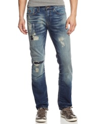 Guess Distressed Slim Straight Jeans Lt Pasblue