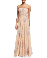 Michael Kors Strapless Corset Gown Nude Women's