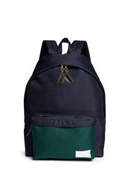 Nanamica Contrast Pocket Cordura Twill Backpack Blue