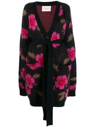 La Doublej Hawaiian Flower Cardi Coat Purple