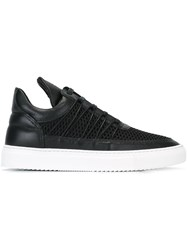 Filling Pieces Long Tongue Textured Sneakers Black