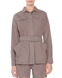 Tomas Maier Cotton Belted Front Jacket