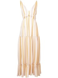 Lemlem Zeritu Tiered Maxi Dress Yellow