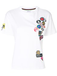 Paul Smith Ps By Patch Work T Shirt Cotton White