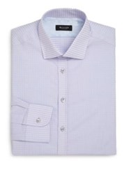 Sand Regular Fit Dot Print Dress Shirt White Blue