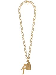Yves Saint Laurent Vintage 2010 Silhouette Runaway Necklace Gold