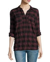 Lenox Bonet Plaid Print Tunic Black Maro