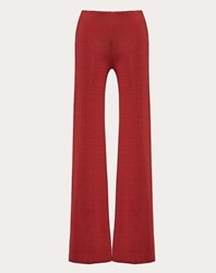 Valentino Viscose Trousers Persian Red Viscose 100