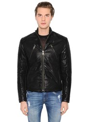 Bikkembergs Biker Leather Jacket