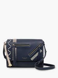 Radley Hill House Leather Cross Body Bag Ink Blue
