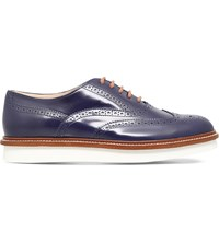 Tod's Gomma Leather Oxford Brogues Navy