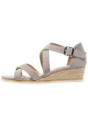 Pier One Wedge Sandals Grey Light Grey