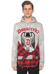 Dsquared Hooded Cotton Jersey Sweatshirt W Shirt