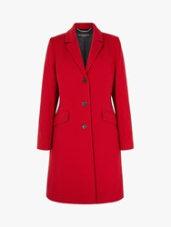 Four Seasons Slimline 3 Button City Coat Red