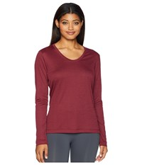 Lole Hava Top Windsor Wine Heather Clothing Red